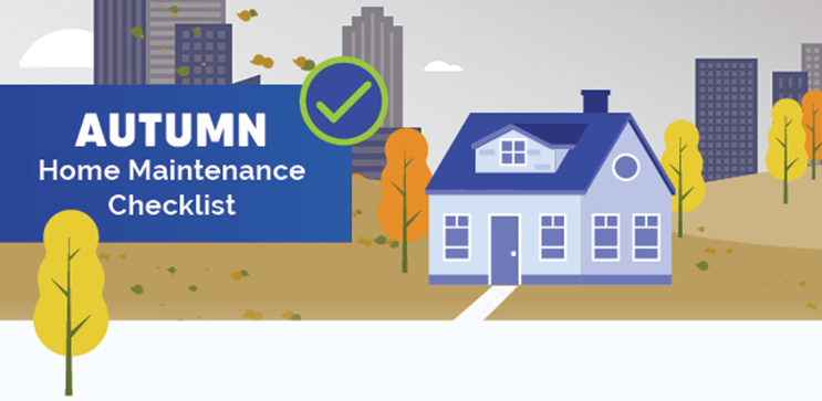 Autumn Home Maintenance Checklist Graphic