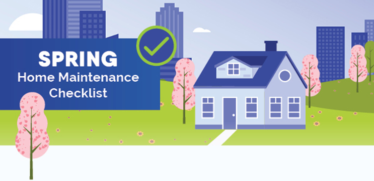 Spring Home Maintenance Checklist Graphic