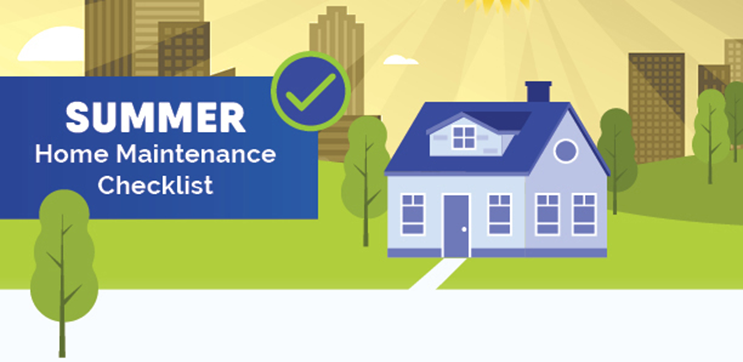 Summer Home Maintenance Checklist Graphic