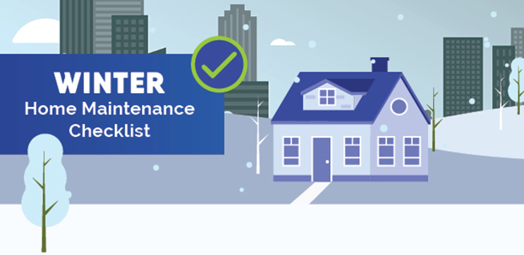 Winter Home Maintenance Checklist Graphic