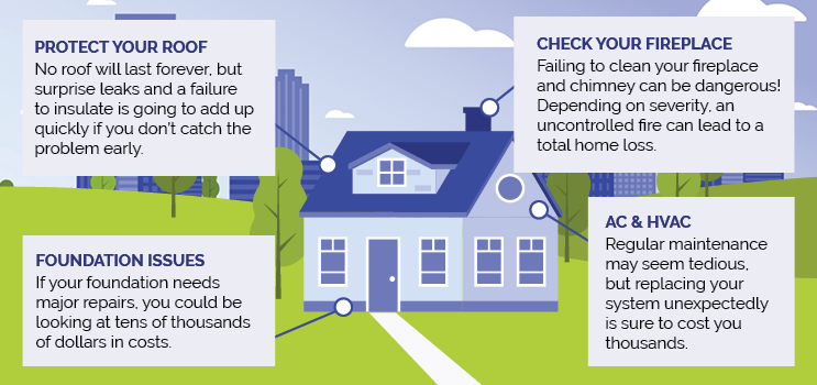 Home Maintenance Examples Infographic