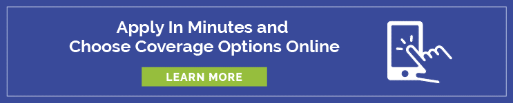 Apply and choose coverage options online banner